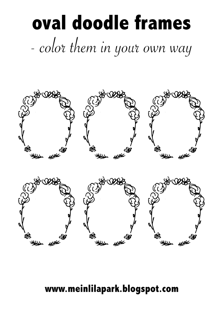 Uncategorized Oval Coloring Page free printable oval diy doodle frames coloring page digital tags and labels