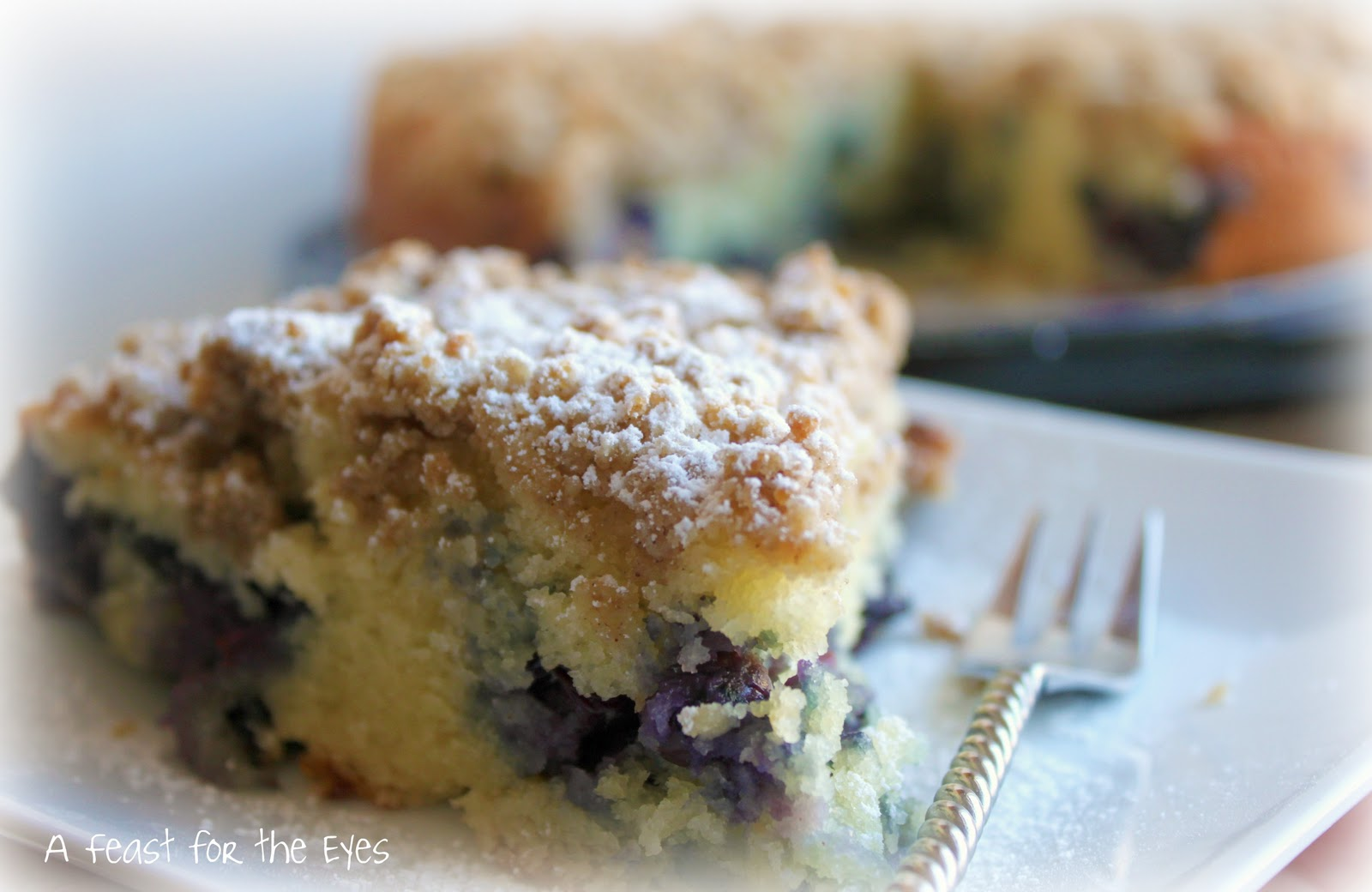 Feast for the Eyes: Blueberry Crumb Cake