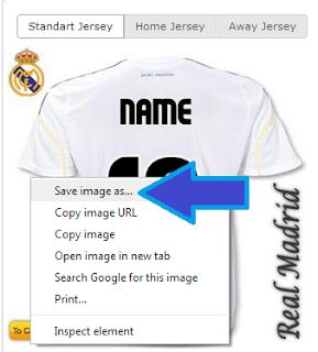 بالصور طريقة كتابة اسمك على قميص أي فريق في العالم
