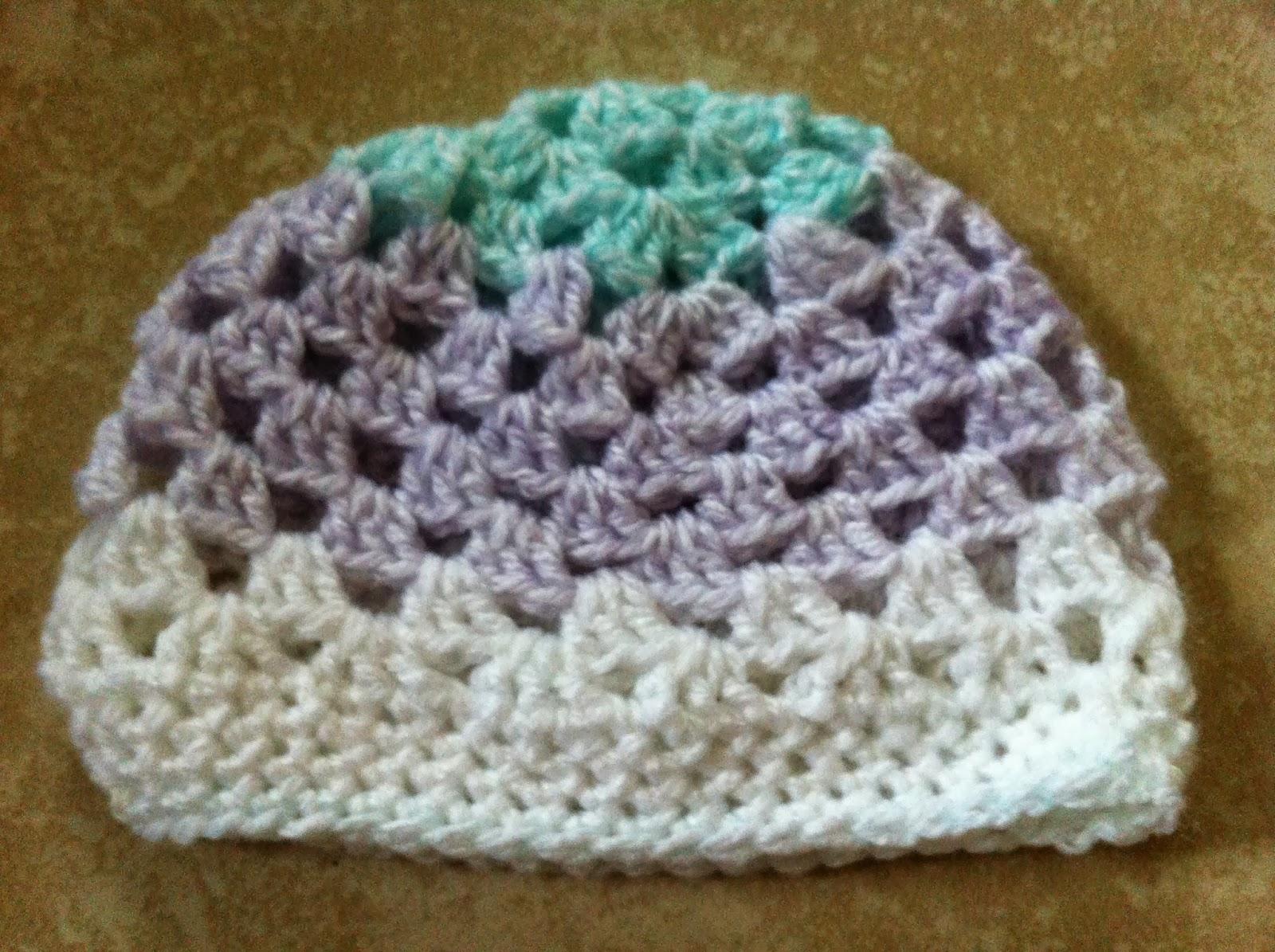 Crochet Granny Stitch Baby Hat - Free Pattern  d348ec307c4