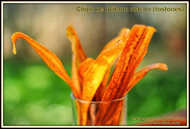 Chips de plátano macho (tostones).
