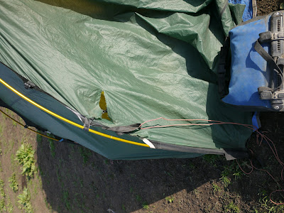 (we only realized it in the morning good they did not walk into the tent the holes are from the horns) In Laos we were at least lucky as we used a ... & Hilleberg Staika u20ac800 tent that leaks!! - Page 2 - Horizons ...