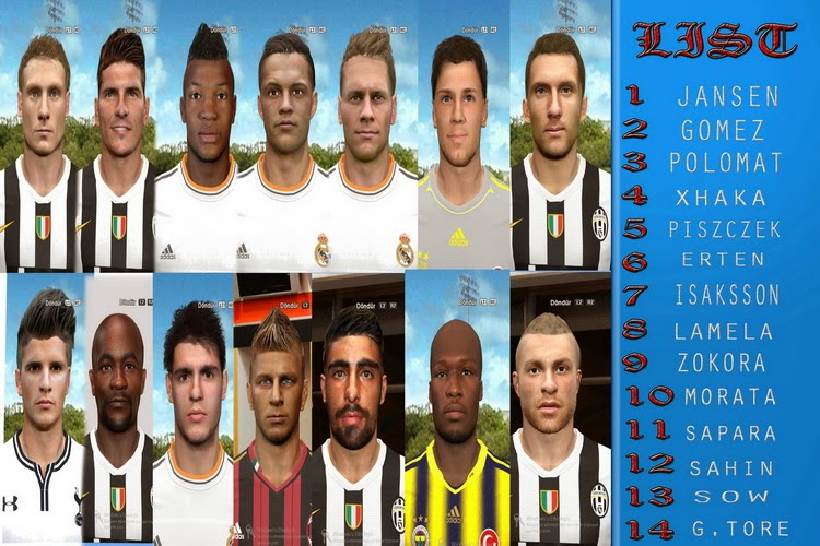 PES 2014 Mega Facepack by Baycex