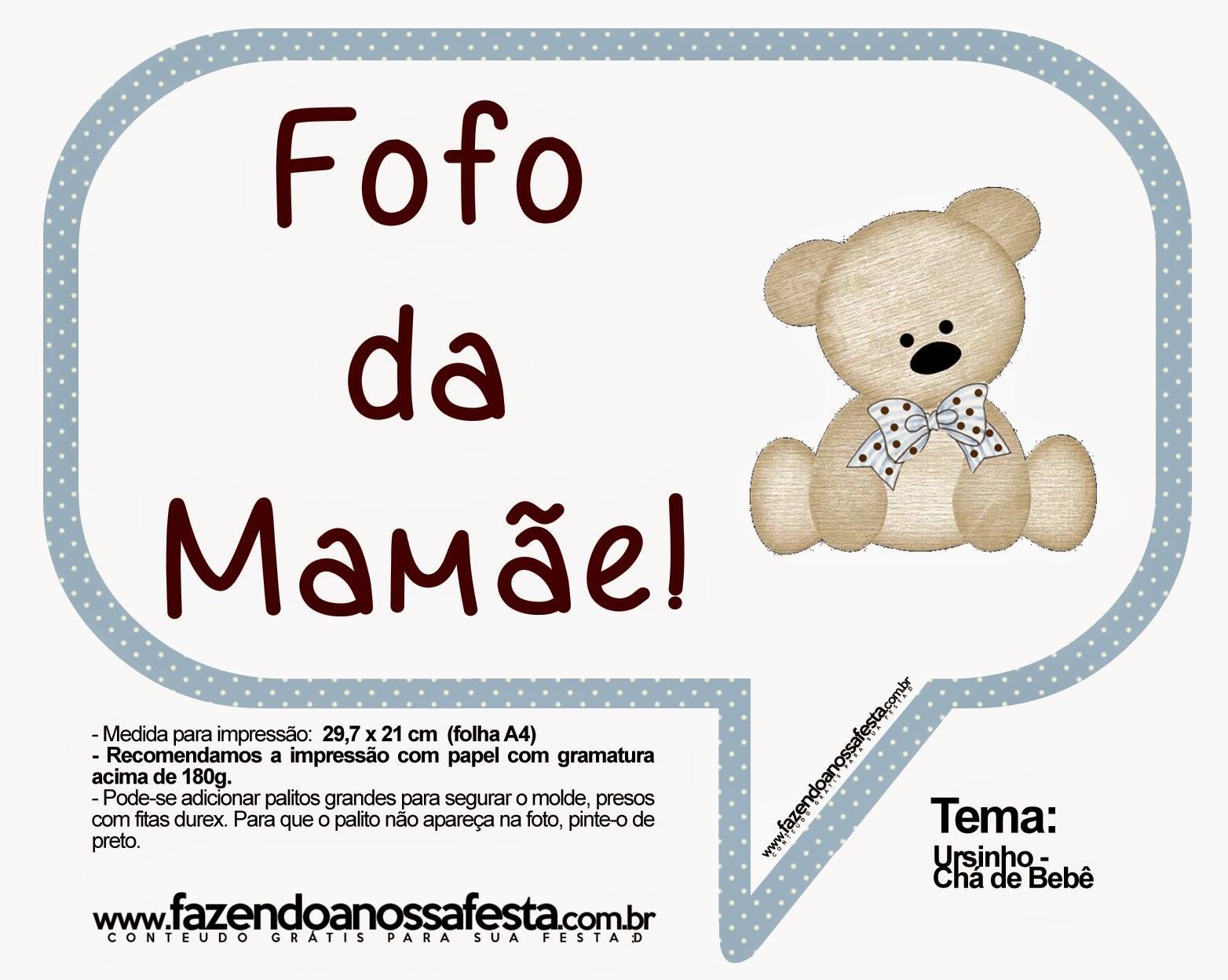 Well-known Plaquinhas para chá de bebê para imprimir - Dicas pra Mamãe EY91