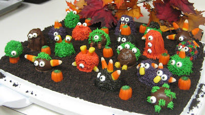 Halloween Little Monster Cake Balls - Angled View 3
