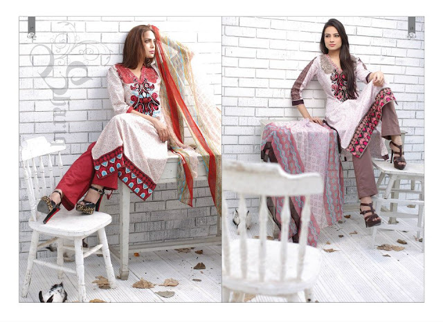 Style  Latest Frocks In Lawn Prints l Embroidered Lawn Collection 2013