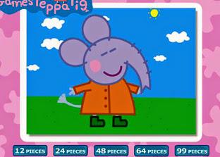 Divirta-se com este quebra cabeça da Emily Elefante, amiga da Peppa Pig.