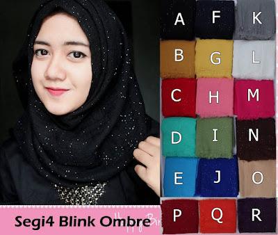 Grosir Jilbab Segiempat Blink Ombre