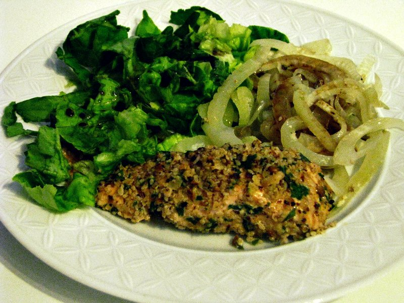 ... Defterim: Hazelnut & Almond Crusted Steamed Salmon Fillets and Fennel