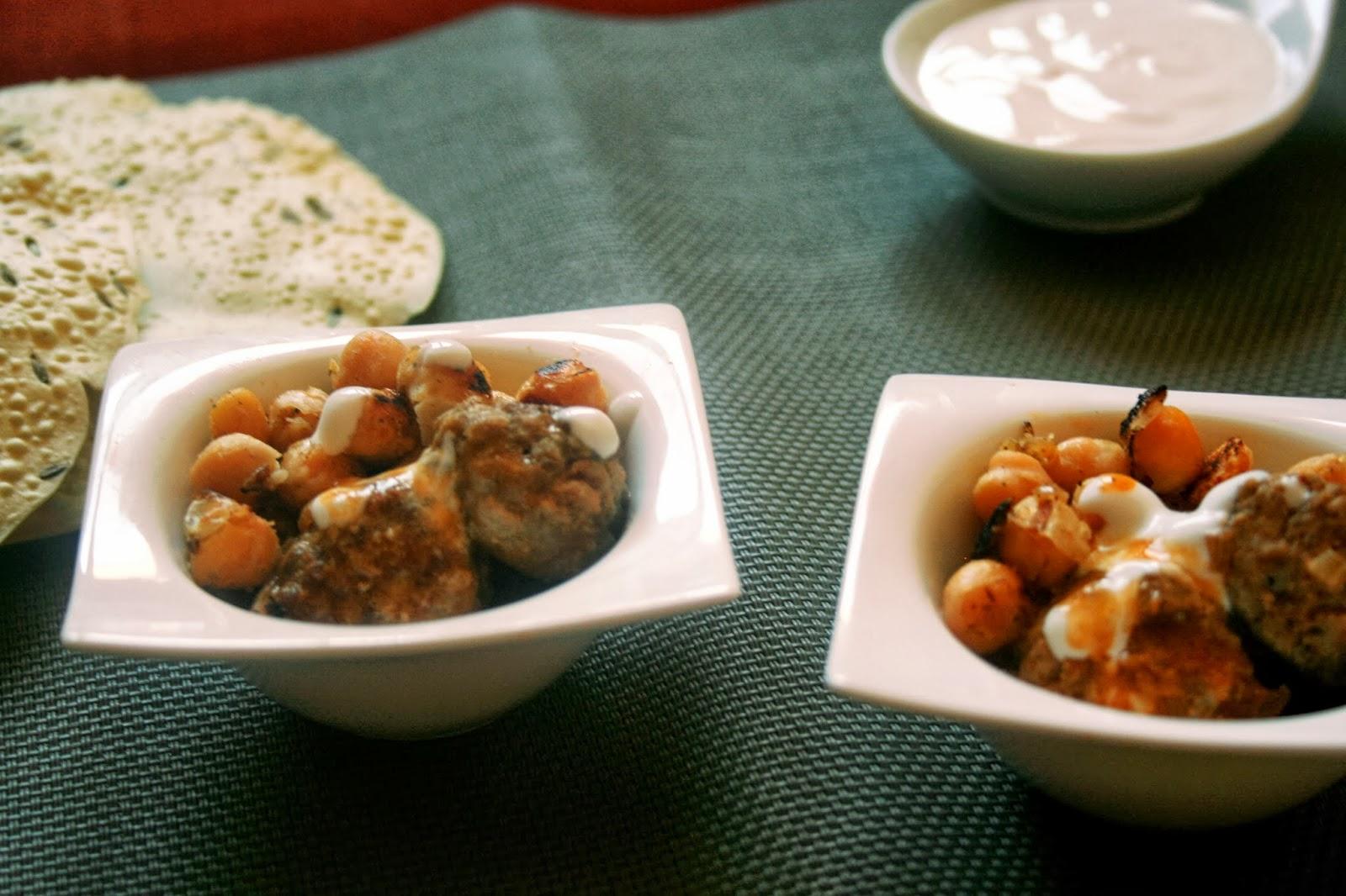 Evasiones culinarias curry rojo de alb ndigas y garbanzos - Acompanamiento para albondigas ...