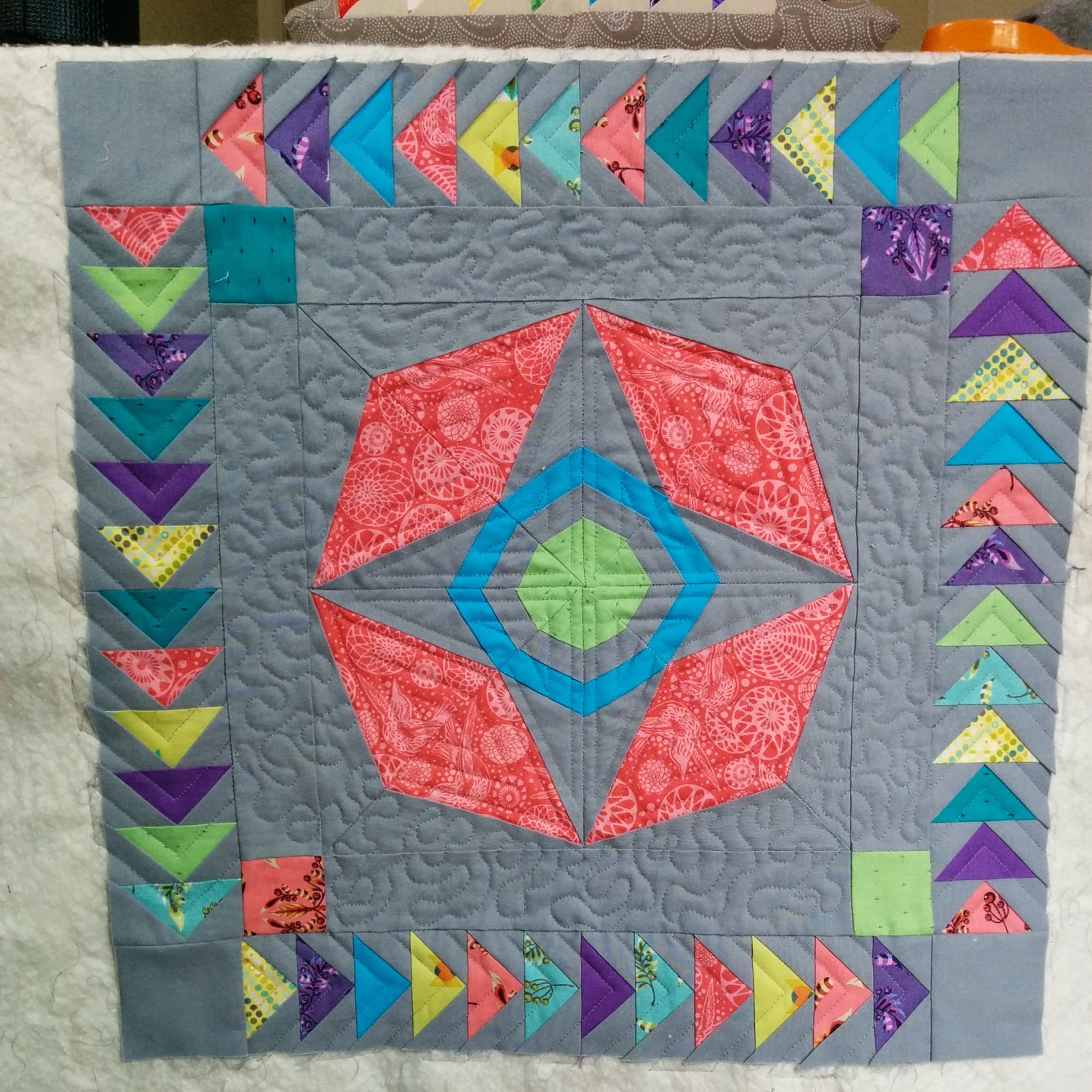 schnitzel and boo mini quilt swap almost finished