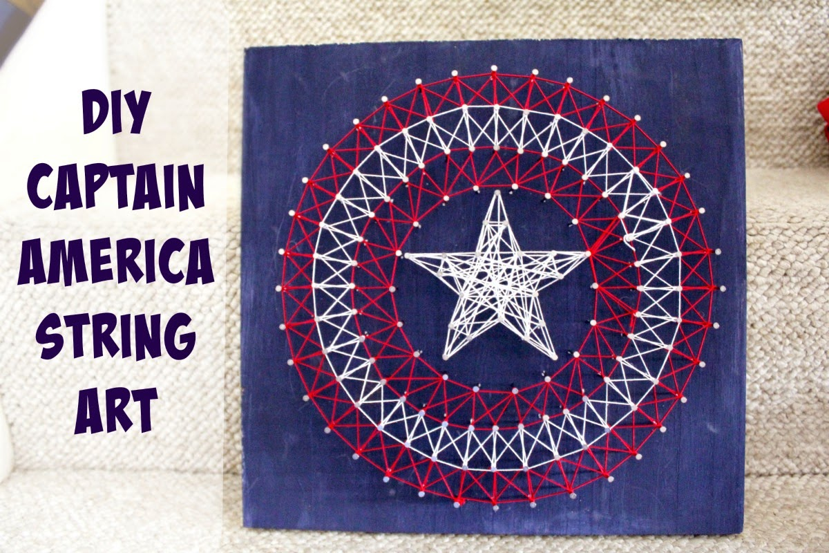DIY Avengers Captain America String Art  #FandangoFamily #ad