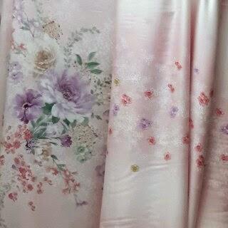 Sprei Tencel Cantik Motif Bunga Pink