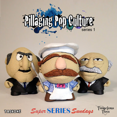 """Pillaging Pop Culture"" Custom The Muppets Blind Box Series Wave 4 by Task One - Waldorf, The Swedish Chef & Statler"