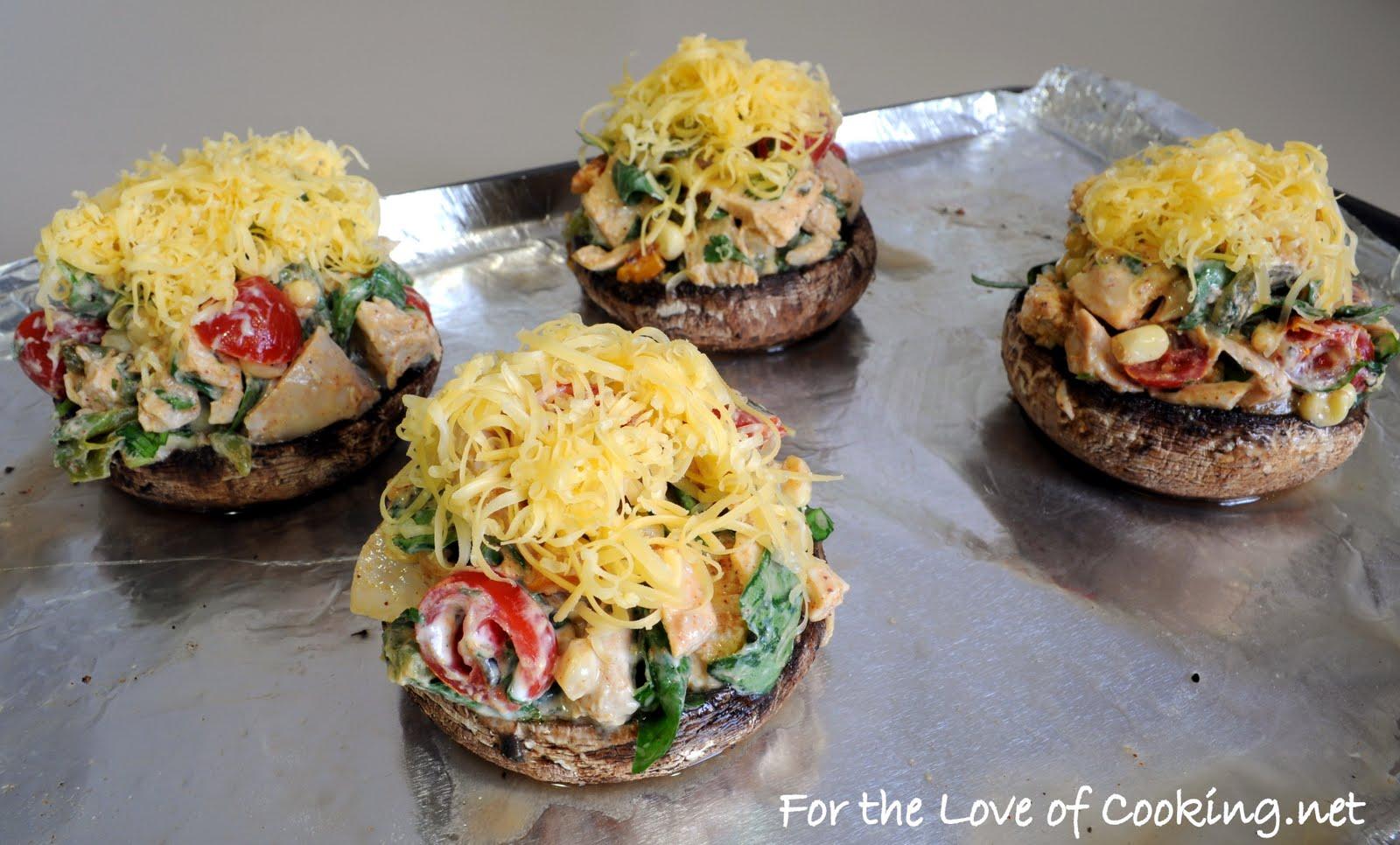 Southwestern Stuffed Portobello Mushrooms | For the Love of Cooking