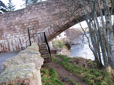 Deeside Walks: the end of the walk around Ballater Golf Course, the Dee Bridge