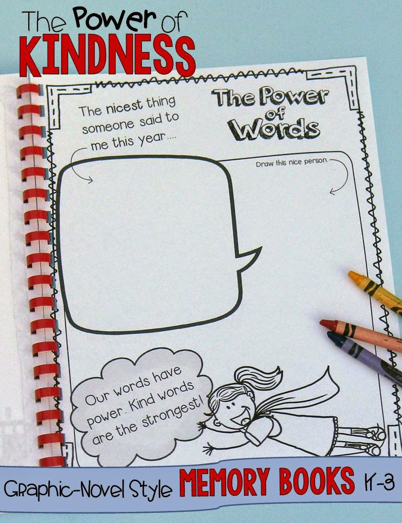 Superhero end of year memory books for K-3