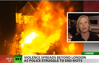 Riot Madness Spreads Across UK RT Video Report Birmingham London Hackney London Liverpool On Fire Hell On United kingdom Apocalypse Apocalyptic Scenario Video real-News Russia Today