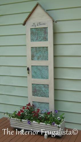Vintage Door Transformed Into French Flower Planter