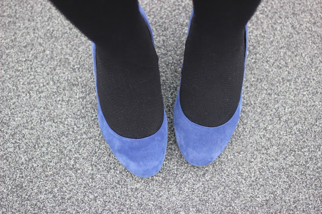 Blue Suede Steve Madden Pumps