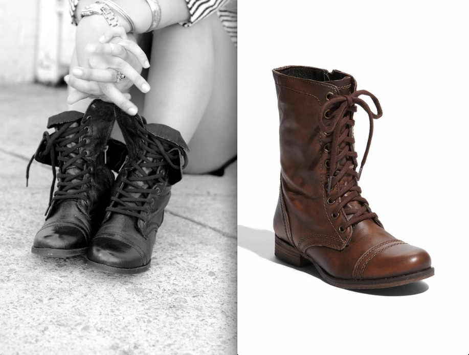 Ever SO Plush!: Crazy Beautiful Combat Boots