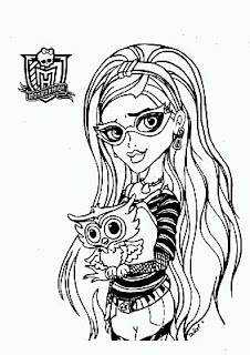 Monster High, Dibujos para Colorear, parte 1