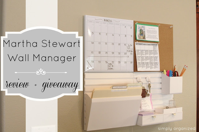 Simply Organized Martha Stewart Wall Manager Review A