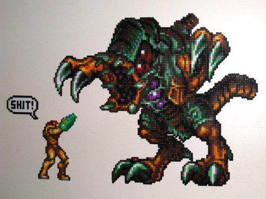Samus Aran v Omega Metroid por DrOctoroc