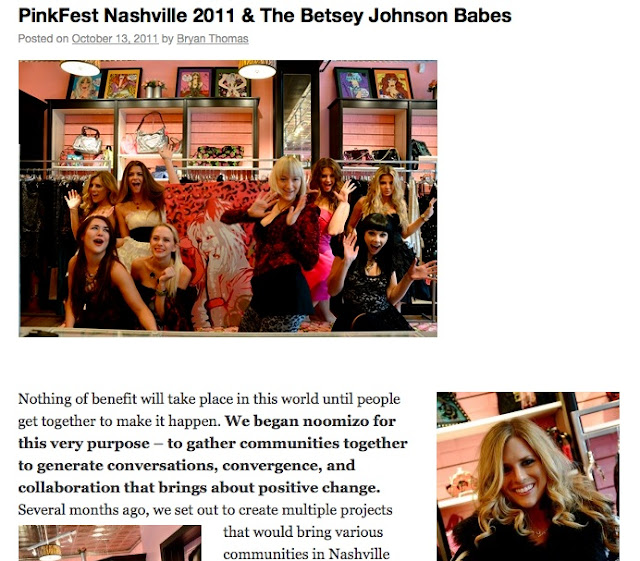 Snappylifestyle for Pinkfest Nashville 2011 & Betsey Johnson Bash