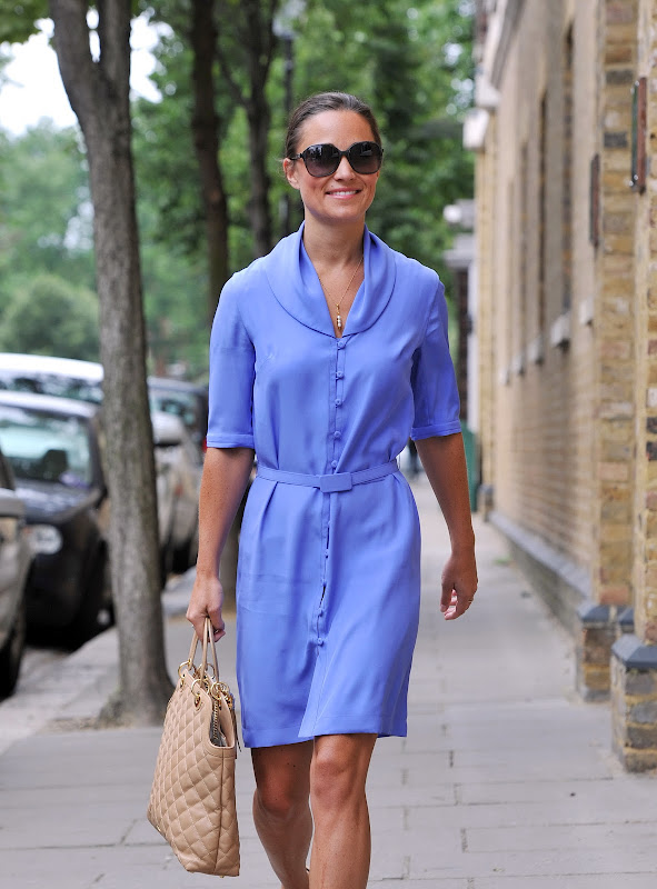 Pippa Middleton wearing a blue outfit