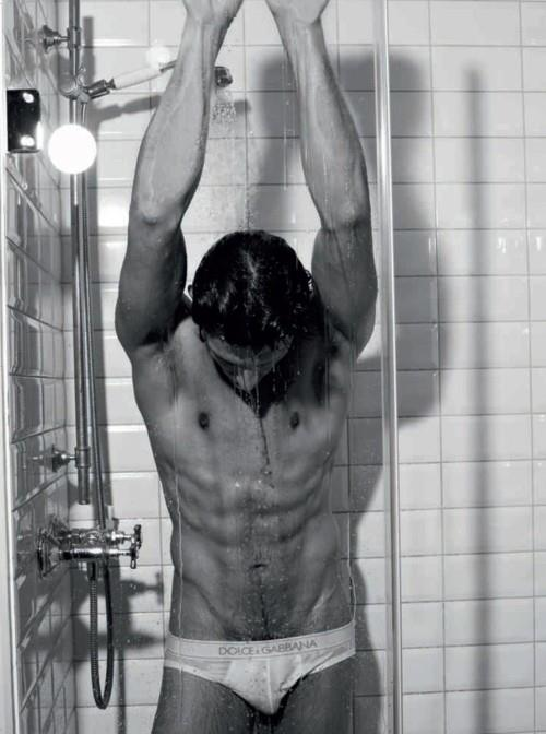 Model Andres Velencoso for D&G underwear