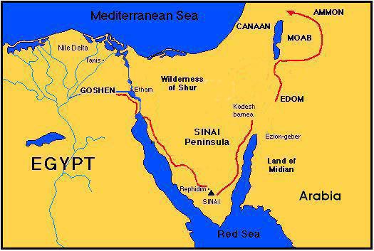 The Sinai Peninsula Map ~ Ancient Egypt Facts