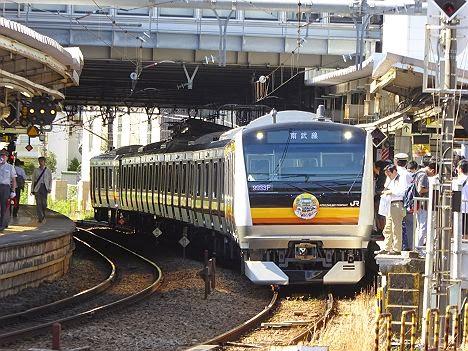 南武線 E233系8000番台車両展示会@登戸駅2番線