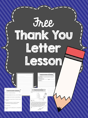 here is lesson that includes the parts of a thank you letter a graphic organizer lined paper and a writing checklist