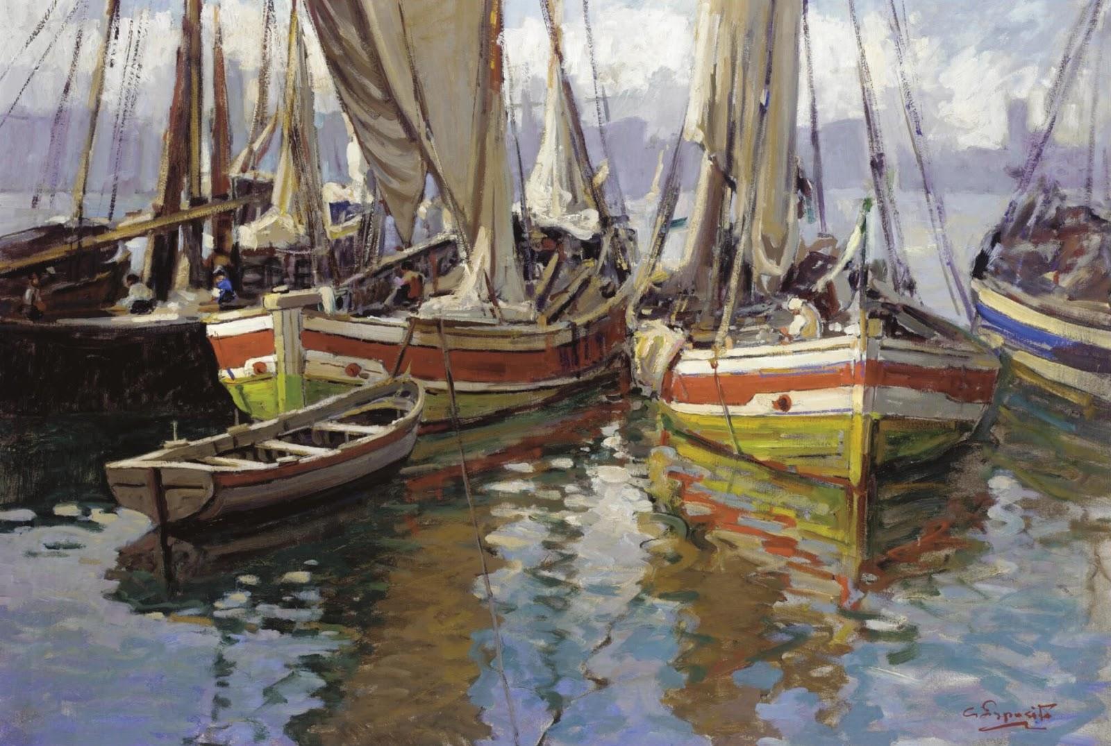 Gaetano Esposito Harbour scene