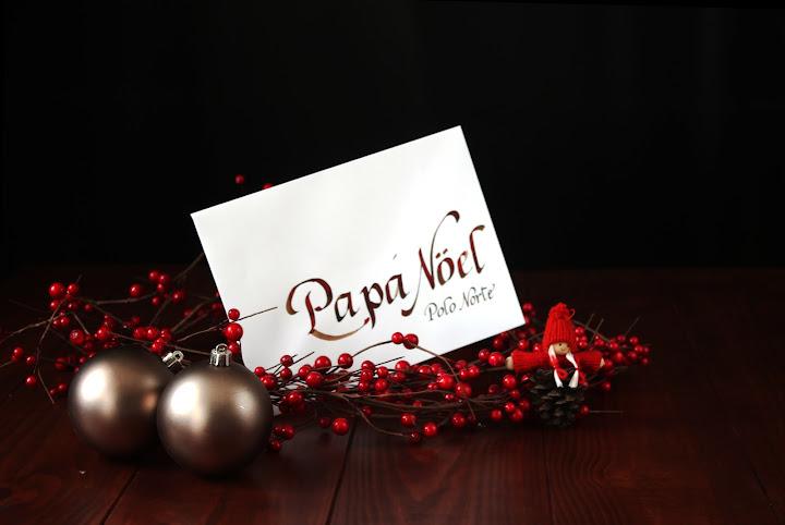 Sobre caligrafiado para Papá Noel