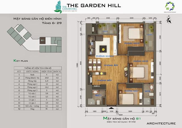 căn b1 chung cư the garden hill