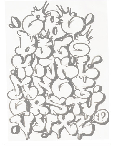 Graffiti letters alphabet az gallery design make