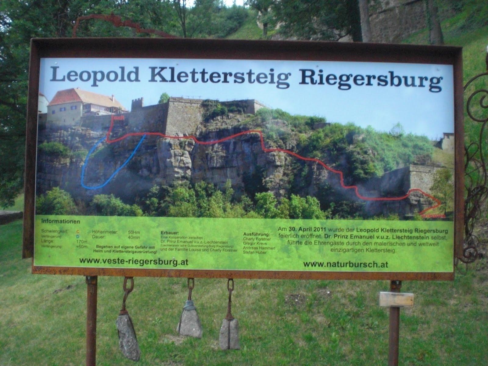 Klettersteig Riegersburg : Rack´n´climb bad gams riegersburg