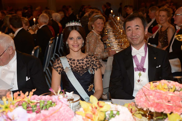 King Carl XVI Gustaf of Sweden and Queen Silvia, Crown Princess Victoria of Sweden and Prince Daniel, Prince Carl Philip and Princess Sofia, Princess Madeleine and Christopher O'Neill, Princess Christina attend the Nobel Prize Banquet 2015