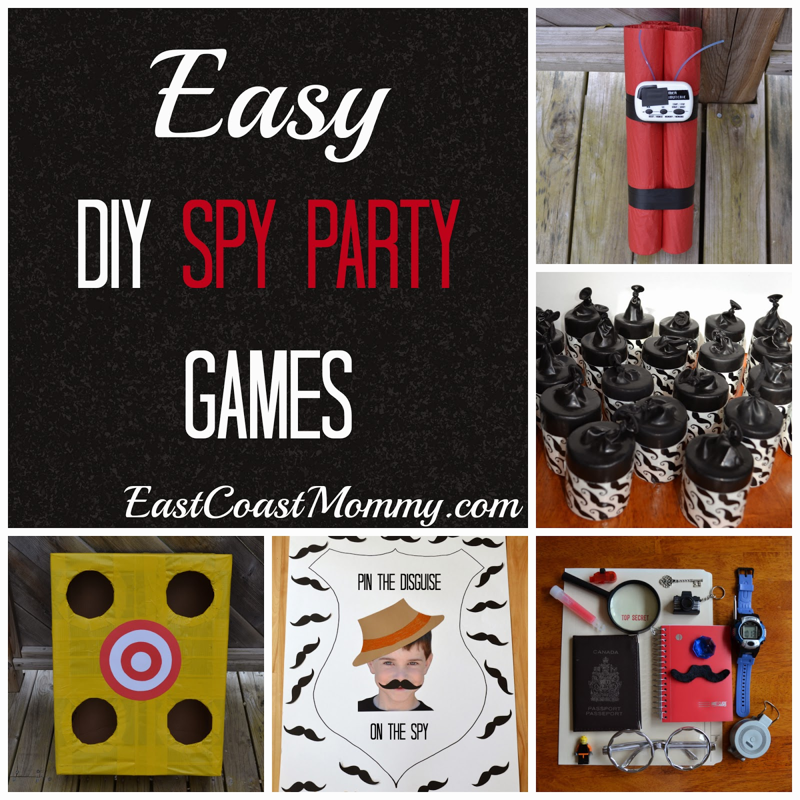 East coast mommy diy spy party 5 easy and inexpensive games for Diy party games for adults
