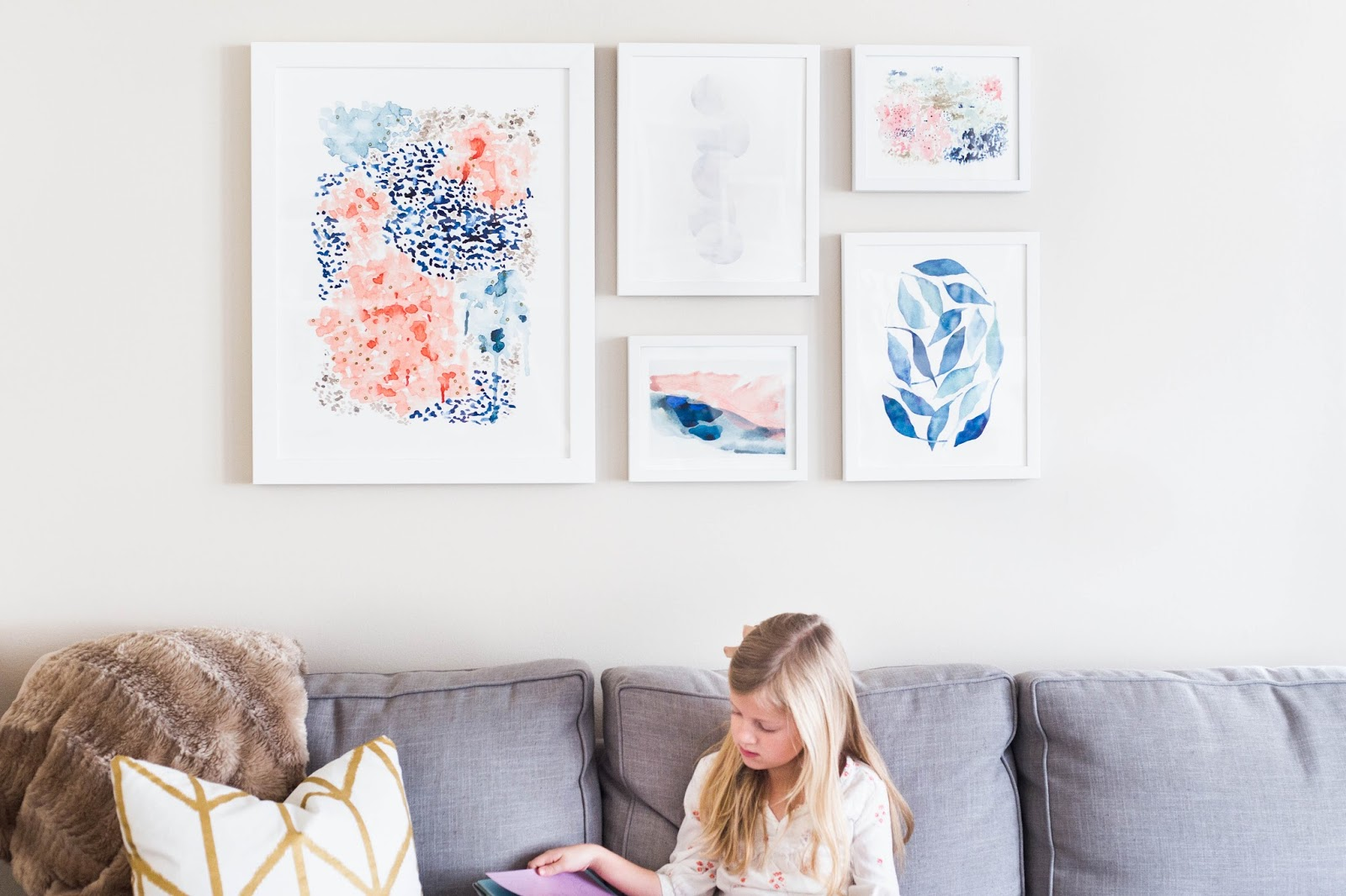do it yourself divas: How to Display Art Work - With Minted ...