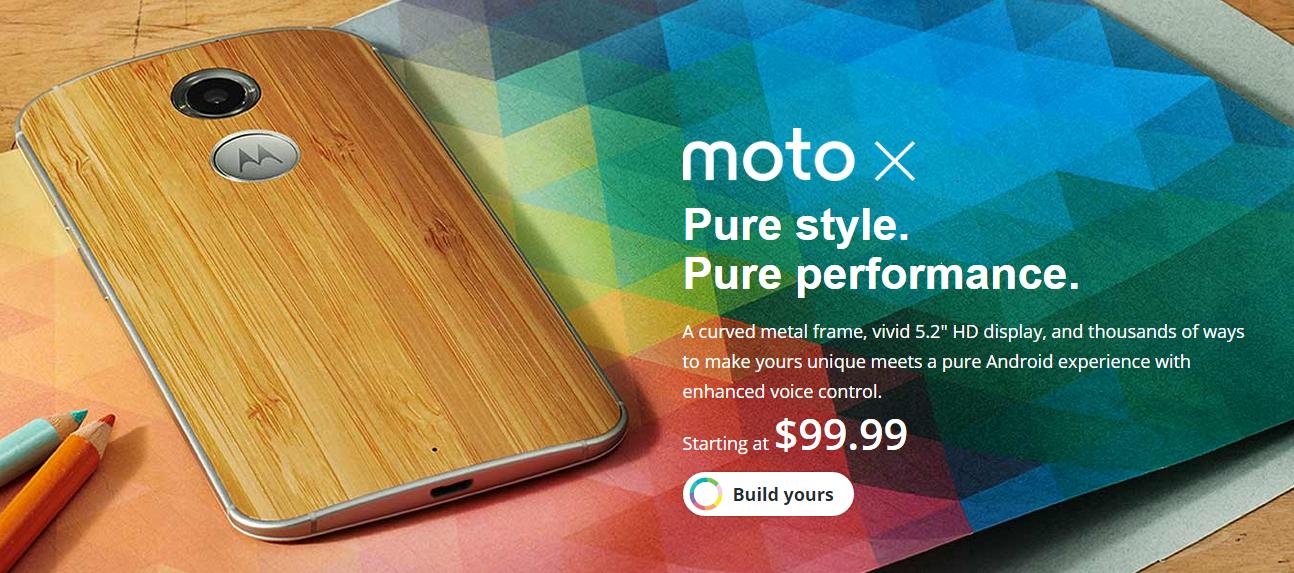 Smartphone Android Motorola Moto X premium desain