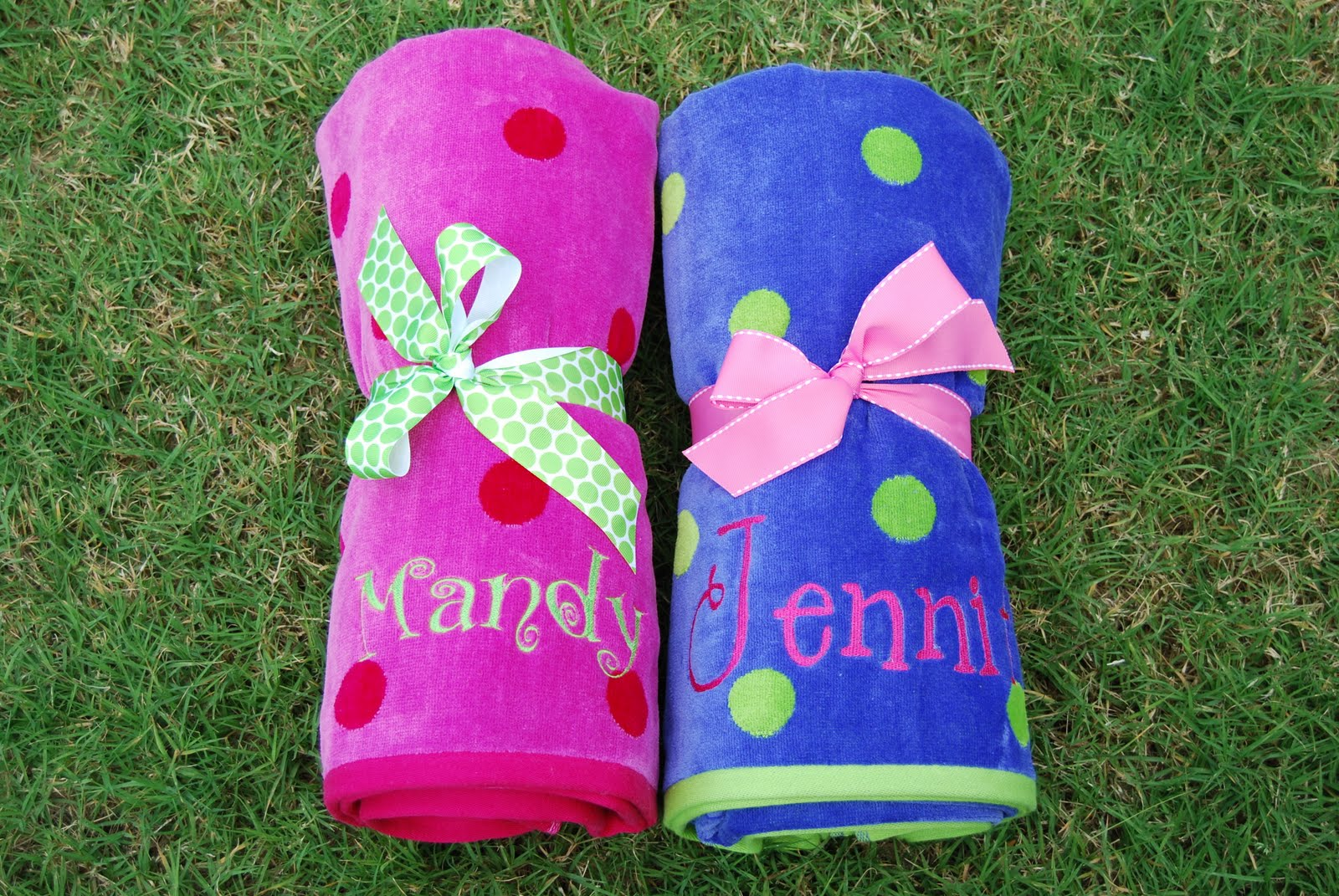 monogrammed beach towels - Monogrammed Beach Towels
