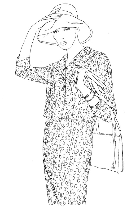 created by award winning writer fashion editor curator and royal college of art professor iain r webb the vogue colouring book is due for release this - Fashion Coloring Book
