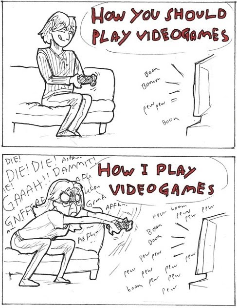 How I Play Video Games - Expectation vs. Reality