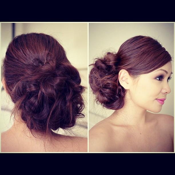 EbeautyBlog.com Bridal Messy Side Bun Hair Tutorial