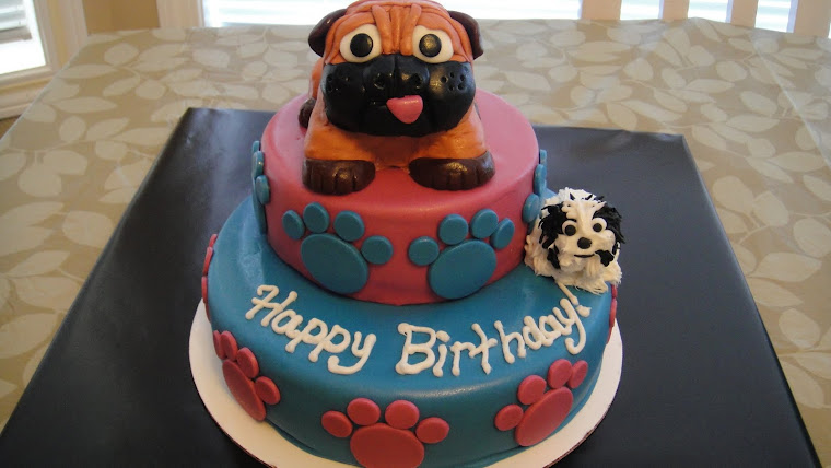 Family Dogs Birthday Cake