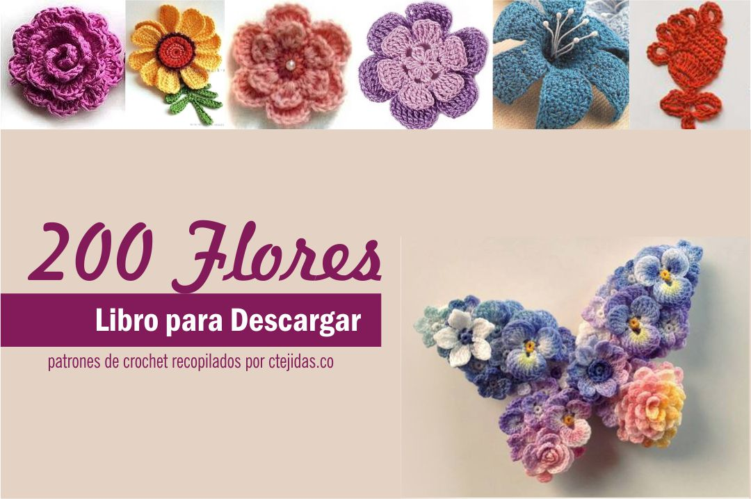 Flores Crochet. Finest Corona De Flores De Ganchillo With Flor De ...