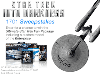 Star Trek Into Darkness 1701 Sweepstakes
